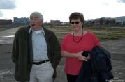 Bill Austin und Sandra Gilpin von der Belfast Titanic Society gehören zum lokalen Empfangskomitee.