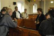 Sandra Gilpin vermittelte Geschichte zum Anfassen in der Non-Subscribing Presbyterian Church von Comber, der auch Thomas Andrews angehörte.