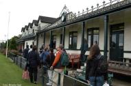 Clubhaus des Cricket Club Comber, dem auch Andrews angehörte.