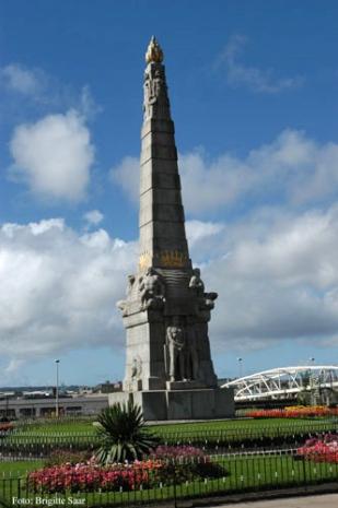 Das Denkmal für die Titanic-Ingenieure erinnert auch an die Maschinisten der Schiffe im Ersten Weltkrieg.