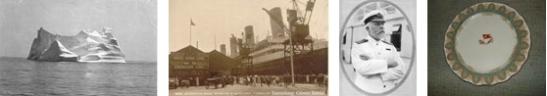 Der Titanic Eisberg / Das Pier in Southampton / Captain Smith /Teller Erster Klasse