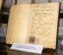 Das Heuerbuch von Carpathia-Crewmitglied Banic Giorgio.