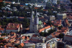 Der Zagreber Dom von oben.