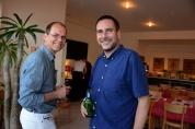 TiPo-Macher Henning Pfeifer und Präsident Günter Bäbler
