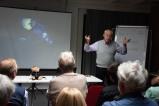 Claes-Göran Wetterhom hielt einen Vortrag über die Expedition zum Wrack der Titanic im Jahr 194.